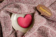 Single heart shape on the dish Royalty Free Stock Image