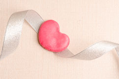 Single heart shape on the dish Stock Photo