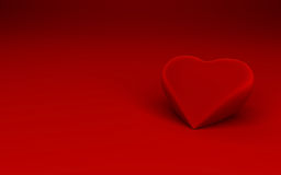 Single heart shape on red background Stock Images