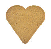 Heart shaped ginger snap cookie Stock Photo