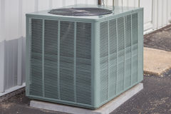 Single Heat Pump Unit. An individual heat pump unit for cooling and heating in warm climates Royalty Free Stock Photography