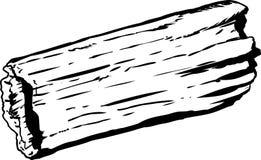 Single hollow rotting log outline Stock Photos