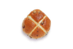 Single hot cross bun Royalty Free Stock Images