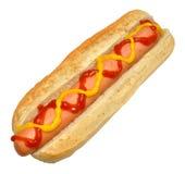 Single Hot Dog Isolated On White Stock Images
