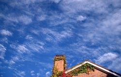 Single House. House against blue sky Royalty Free Stock Photos