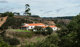 Single house in Alentejo Stock Photo