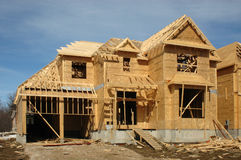 Single House Construction Royalty Free Stock Photography