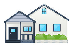 Single house with gray roof. Illustration Stock Image