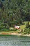 Single house on a lake. Single house on a czorsztyn lake. Pieniny. Poland. Europe Stock Photography