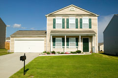 Single house in new housing development near Charlotte, North Carolina Stock Images