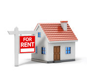 Single house for rent Stock Images