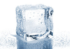 Single ice cube Stock Photo