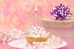 Free Single Iced Cupcake Stock Photography - 9267912