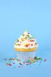 Single iced cupcake Royalty Free Stock Photography