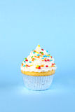 Single iced cupcake Royalty Free Stock Images