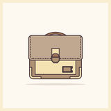 A single icon school bag on a light background Royalty Free Stock Photography