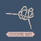 Single illustration of nautical knot. Royalty Free Stock Image