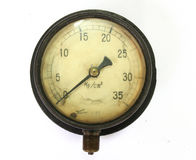 Single indicator for retro sphygmomanometer Stock Photography