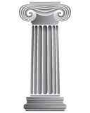 Single Ionic Column. Architectural ionic column vector illustration Royalty Free Stock Images