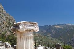 Single ionic order capital at Delphi Stock Image