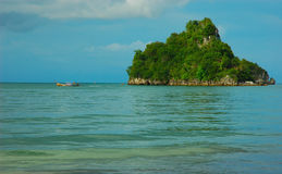 Single island off Krabi's Coast, Thailand. Stock Photo