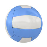 Single Isolated Blue Volleyball Ball Royalty Free Stock Image