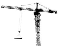Single isolated building crane Royalty Free Stock Photography