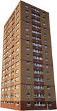 Single isolated council tower block Stock Photography