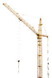 Single isolated dark golden hoisting crane Royalty Free Stock Photography