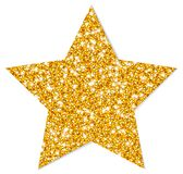 Single Isolated Golden Star Sparkling With Shadow stock illustration