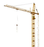 Single isolated high dark gold hoisting crane Royalty Free Stock Image