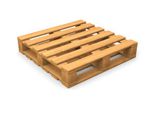 Single isolated pallet Stock Photography