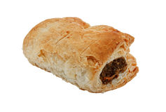 Single isolated sausage roll Stock Images