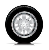 Single isolated tire car wheel Stock Image