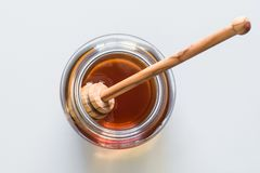 A single jar of honey Stock Photo