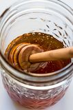 A single jar of honey Stock Photography