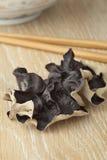Single jews ear mushroom. Single dried jews ear mushroom Royalty Free Stock Photography