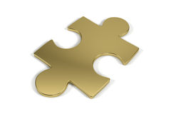Single jigsaw puzzle piece Royalty Free Stock Photography