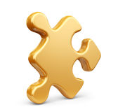 Single jigsaw puzzle piece. 3D Icon isolated Stock Photo