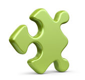 Single jigsaw puzzle piece. 3D Icon isolated. On white background Royalty Free Stock Photography