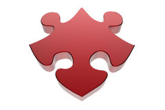 Single jigsaw puzzle piece Royalty Free Stock Image