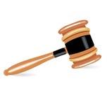 Single judge gavel flat design Royalty Free Stock Photos