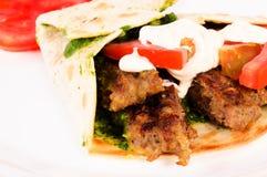 Single kebab Royalty Free Stock Image