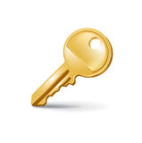 Single key isolated on white Royalty Free Stock Photo