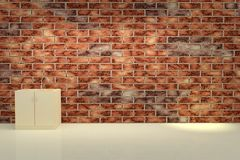 Single kitchen sink against old brick wall Stock Photos