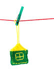 Single knitted house Stock Photos