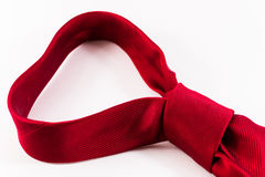 Single Knotted Red Silk Tie Stock Photography