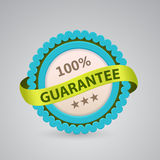 Single label of 100% guarantee. Single label of 100 guarantee stock illustration