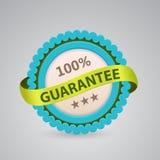 Single label of 100% guarantee. Single label of 100 guarantee Royalty Free Stock Photo