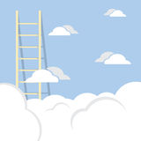 Single Ladder Through The Cloud Into The Sky Stock Images
